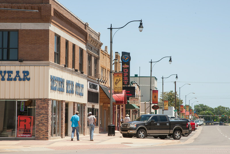 The Stockyard District at Exchange and Agnew in Oklahoma CIty, OK.