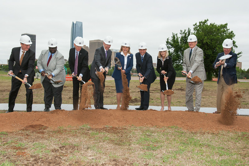 Groundbreaking ceremony at the site of GE Global Research's new Oil & Gas Technology Center in downtown Oklahoma City, OK.