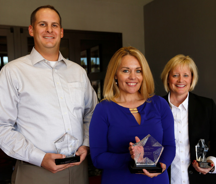 Eric Kehmeir of Integrated Business Technologies, Angela Byers of Byers Creative and Lori Dreiling of Fleet Feet were the winners at the Small Business Connection Summit in Tulsa.