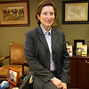 Joy Kelly, Chief real Operation Officer for Spirit Bank, pauses for a photograph at her downtown Tulsa office.