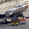 The Flagship Detroit Foundation DC3 which is currently undergoing repairs at the American Airlines maintenance base in Tulsa.