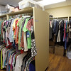 Clothing closet at the women in recover facility in downtown Tulsa.