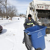 recycling trash winter snow cold