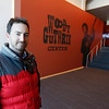 Craig Immel of Steadystate Geothermal pauses for a photo in the lobby of the Woody Guthrie Center which is heated by geothermal energy.