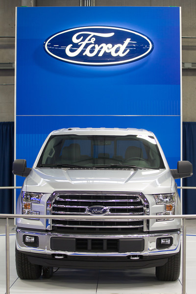The 2015 Ford F-150 is on display for the Auto Show being held at the Oklahoma State Fairgrounds.