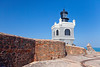 The lighthouse at the San Felipe del Morro Castle in San Juan, Puerto Rico, West Indies.