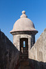 A lookout station at the San Felipe del Morro Castle in San Juan, Puerto Rico, West Indies.