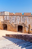 Interior architecture of the San Felipe del Morro Castle in San Juan, Puerto Rico, West Indies.