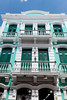 Buildings with balconies, window and doors in San Juan, Puerto Rico, West Indies.