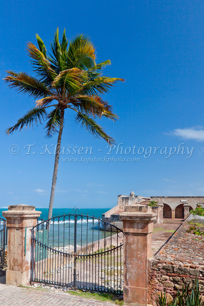The entrance to Fort Geronimo in San Juan, Puerto Rico, West Indies.