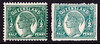 Status 311/1500 1895-96 QV ½d Green, blank background, PROOF in near issued colour, on thick no wmk paper, with issued stamp to compare. VF UN. SG 208(p). Probably only 1 proof sheet printed. (P)