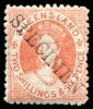 Phoenix 36/514 1880 Small Chalon Litho Wmk 2nd Crown/Q Perf 12 2/6d dull scarlet, SG #121, ovpted 'SPECIMEN' diagonally.