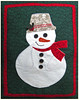 2014/10 Christmas snowman pillow