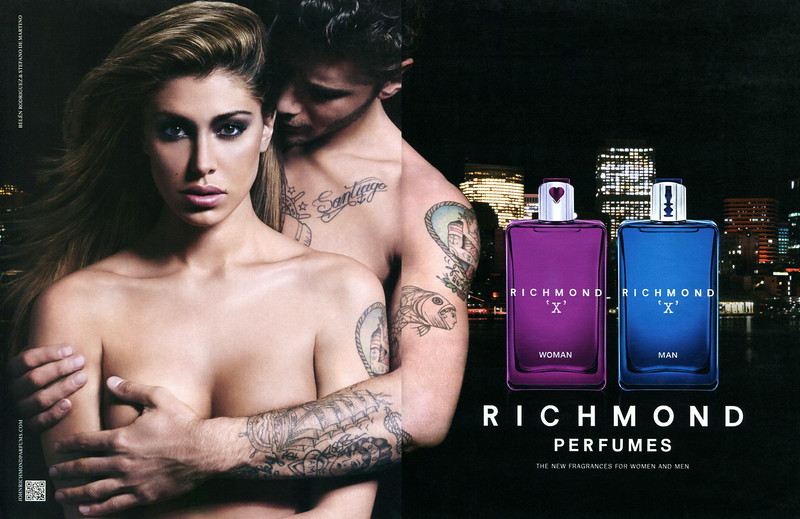JOHN RICHMOND 'X' Woman - 'X' Man 2014 Italy spread 'The new fragrance sfor women and men'