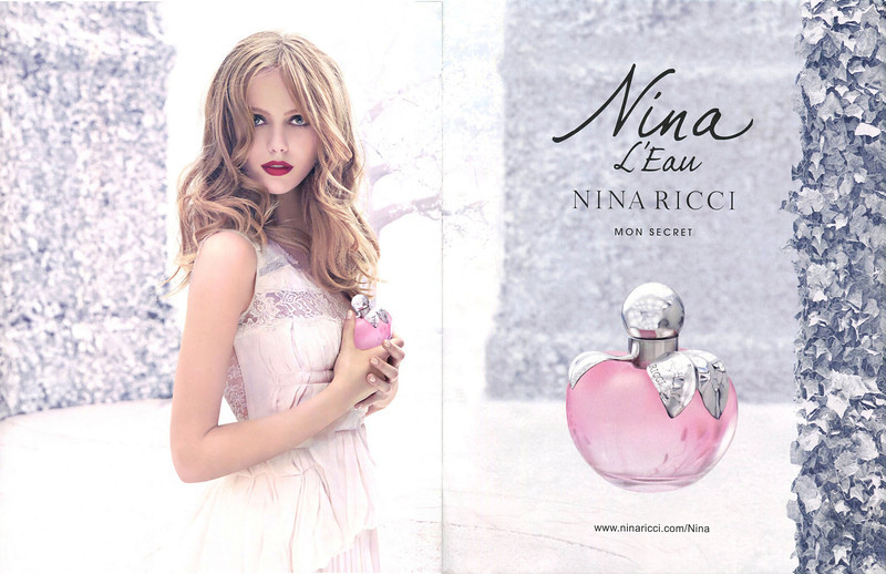 NINA RICCI Nina L'Eau 2013 Spain spread<br /> MODEL: Frida Gustavsson, PHOTO: Eugenio Recuenco