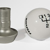 White 6 Speed Shift Knob w/Adapter for 2011-2014 Mustang (421556)