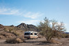 A free, dispersed campsite in Craggy Wash, run by the Bureau of Land Management (BLM). Taken near Lake Havasu City, Arizona, USA.