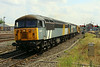 25 July 2014. Gridlock as 56301 + 56303 pass through Banbury with the Railvac on the 6Z56 0915 Totton - Chaddesden move.