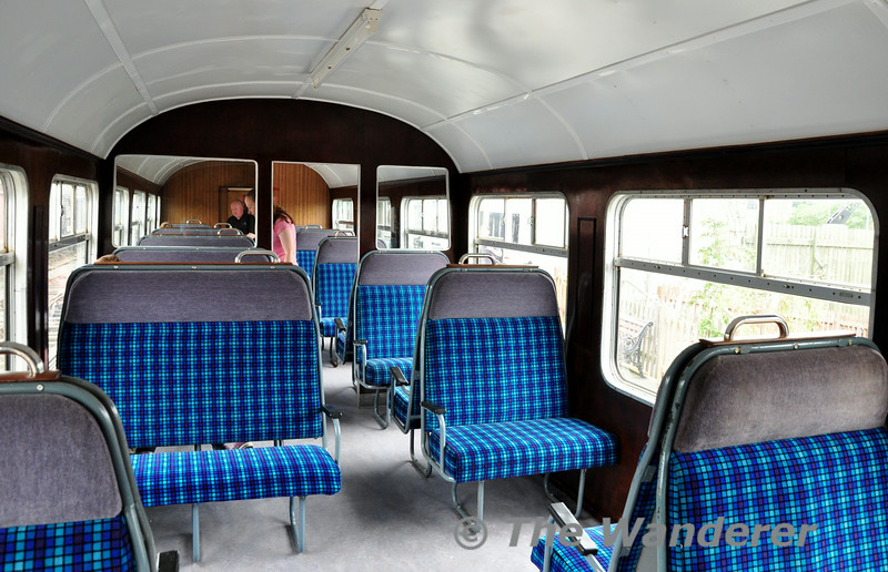 Interior of former 70 Class Trailer 728 at Downpatrick. Sun 20.07.14