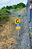 Temporary Speed Restriction Board. 20 mph. Nenagh Branch. Sat 19.07.14
