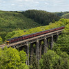 "47245 crosses St. Pinnock viaduct on the down ""Royal Duchy"" - 2nd June 2013"