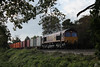Class 66 Diesel Locomotive number 66 096 passes Oakley with 6X38 1350 Eastleigh to Didcot.<br /> 10th October 2014