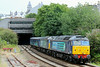 57008 57009 + 9419 9428 5Z52 Crewe Gresty Bridge - Keyham out of Mutley Tunnel 28.07.14