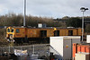 DR79263 + DR79273 Harsco Track Technologies RGH-20C Switch and Crossing Rail Grinder stabled in the yard 14.02.13