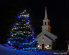 12.14.2013  The Marlow church stands tall behind the Christmas tree in the buildings shared area with the Odd Fellows Hall