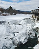03.07.2013  Ice formed on a dam in the Ottauquechee River