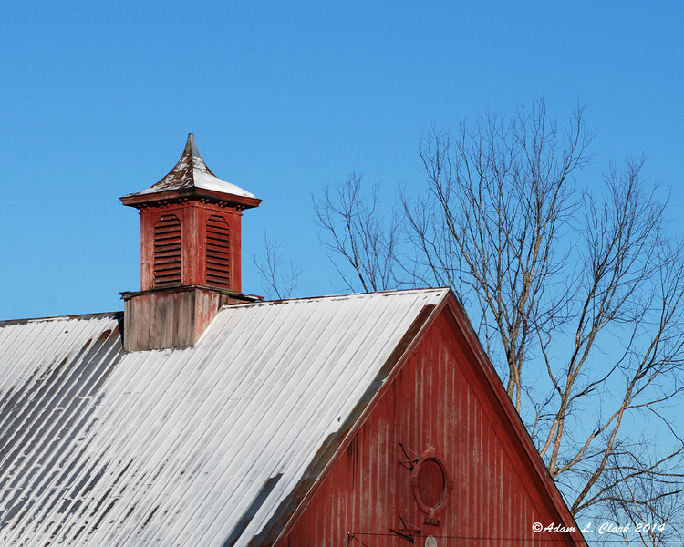 02.28.2014  The cupola of this small barn gets my attention in the morning sun on the way to work