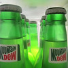 Colour My Week:  Light Green<br /> Here's some bottles lit from the back