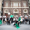 Dancers and Musicians Celebrate post-2nd Line for a Heineken Promotion