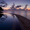 Infinity Pool Sunrise - Kuda Huraa - Republic of Maldives