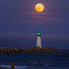 Super Moon over Walton Lighthouse