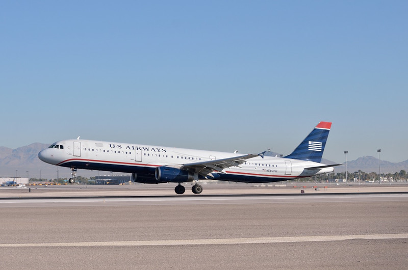 N545UW US Airways Airbus A321  McCarran International Airport Las Vegas,