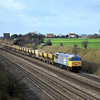 56038 Western Mail works a loaded rake of ARC hoppers up to Acton past Breadcroft Lane