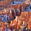 Sunrise lights the rim of Bryce Canyon, Utah