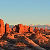 Garden of Eden and La Sal Mountains Arches National Park