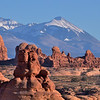 Spot the hikers lost in the landscape...? Garden of Eden and La Sal Mountains Arches National Park
