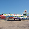 """Lockheed Jetstar used as a canvas by contemporary artist Kenny Scharf, entitled """"Back To Supersonica."""""""