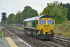 Freightliner 66508 passing West Byfleet as  0Y80 Southampton Maritime-Hoo Jn Yard light engine move.<br /> <br /> 1 August 2014