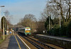 456009 draws to a halt at Bagshot with the 12.23 service from Ascot to Guildford<br /> <br /> 20 January 2015