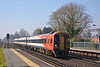 159015 passing West Byfleet with 1L34  the 10.47 Salisbury to Waterloo  13 March 2014
