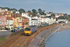 Passing Dawlish, 143617 forms service 2T15  the 11.23 from Exmouth to Paignton  28 November 2013