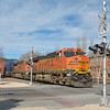BNSF (ES44C4)'s  7074 / 7041 cross Beaver Street level crossing as they enter Flagstaff from the West  19 November 2013