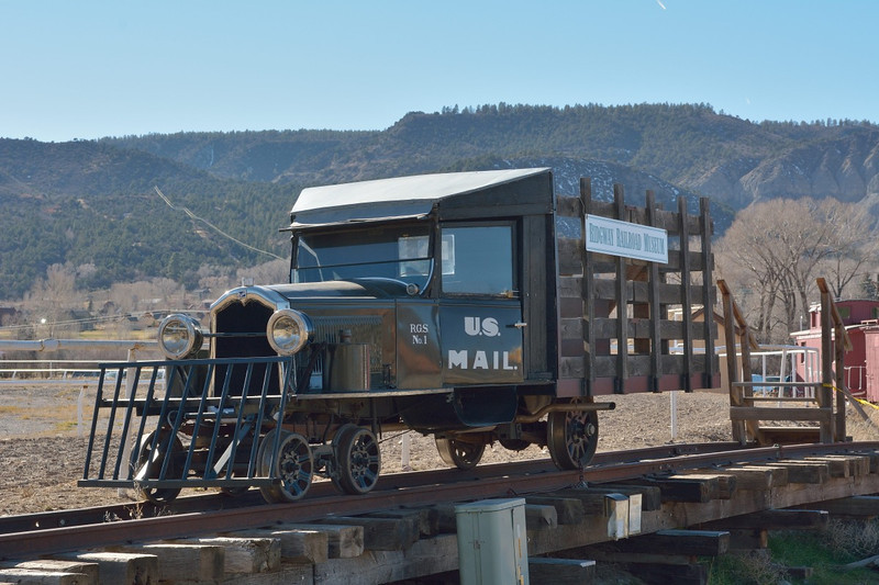 Galloping Goose No.1 replica on display at the Ridgway Railroad Museum  Ridgway, Colorado  12  November 2013