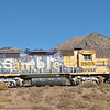 The graffiti artists have been at work on this BNSF (GP35) No.2605 stabled just outside Flagstaff  18 November 2013