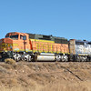 BNSF (GP60M) No.108 and GP35 No.2605 stabled just outside Flagstaff  18 November 2013