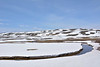 Heavy patches of snow still linger in the Hayden Valley <br /> Yellowstone NP.